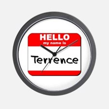 Hello my name is Terrence Wall Clock