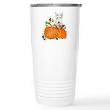 Autumn Scottie Wheaten Travel Coffee Mug
