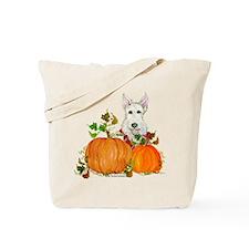 Autumn Scottie Wheaten Tote Bag