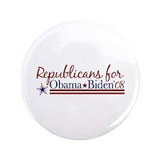 "Republicans for Obama Biden 3.5"" Button (100 pack)"