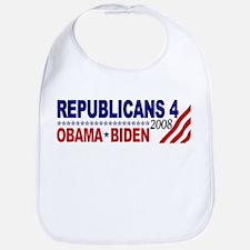 Republicans 4 Obama Biden Bib