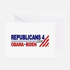 Republicans 4 Obama Biden Greeting Card