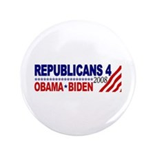 """Republicans 4 Obama Biden 3.5"""" Button (100 pack)"""
