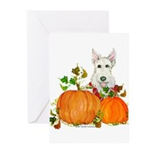 Autumn Scottie Wheaten Greeting Cards (Pk of 20)