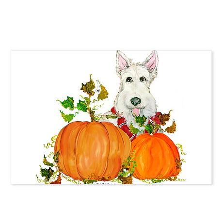 Autumn Scottie Wheaten Postcards (Package of 8)