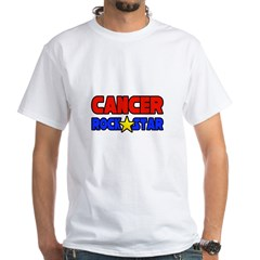 """Cancer Rock Star"" White T-Shirt"
