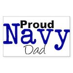 Proud Navy Dad Rectangle Sticker