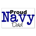 Proud Navy Dad Rectangle Sticker 10 pk)