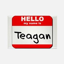 Hello my name is Teagan Rectangle Magnet