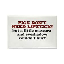 Lipstick Pig Rectangle Magnet
