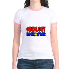 """Oncology Rock Star"" Jr. Ringer T-Shirt"