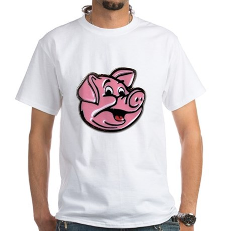 the pink pig White T-Shirt