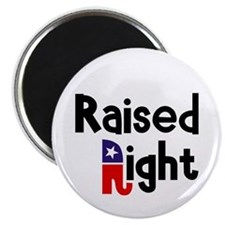 "Raised Right 1 2.25"" Magnet (10 pack)"
