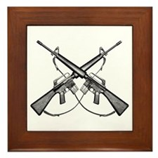 M16 Rifle Framed Tile