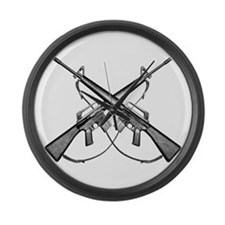 M16 Rifle Large Wall Clock