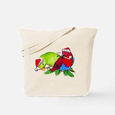 Christmas Parrot Tote Bag