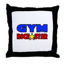 """Gym Rock Star"" Throw Pillow"