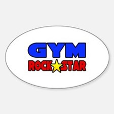 """Gym Rock Star"" Oval Decal"