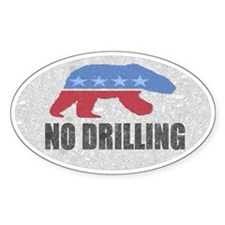 Anti Drilling Polar Bear Oval Bumper Decal