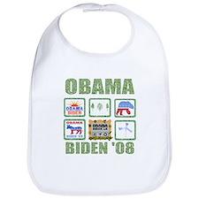 Obama Biden '08 Baby Bib