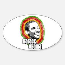 Vintage Barack Obama Bumper Oval Decal