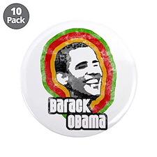 """Vintage Barack Obama 3.5"""" Button (10 pack)"""
