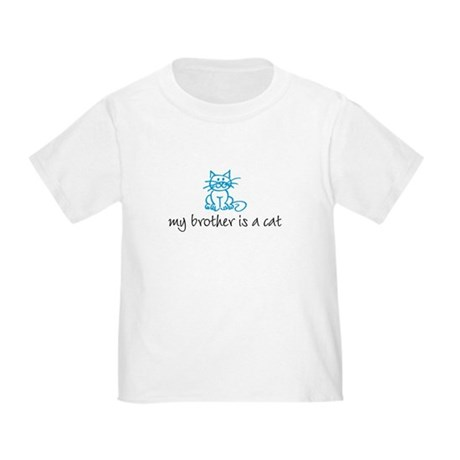 My brother is a cat - blue Toddler T-Shirt