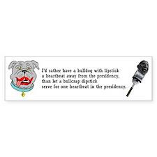 Lipstick Bulldog Bumper Bumper Sticker