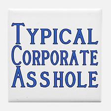 Corporate A Hole Tile Coaster