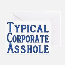 Corporate A Hole Greeting Card