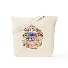 Knitting Christmas Tote Bag