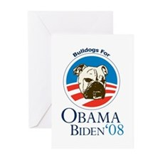Bulldogs for Obama Greeting Cards (Pk of 20)