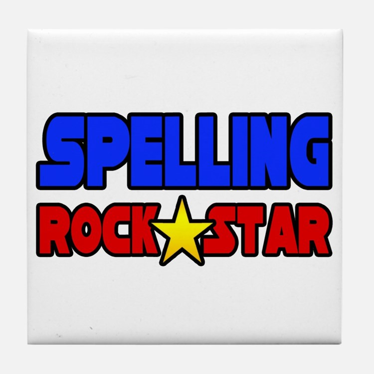 """Spelling Rock Star"" Tile Coaster"