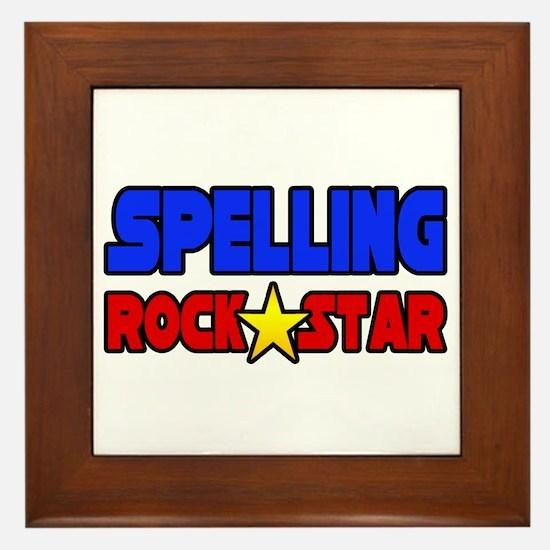"""""""Spelling Rock Star"""" Framed Tile"""