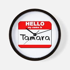 Hello my name is Tamara Wall Clock