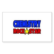 """Chemistry Rock Star"" Rectangle Decal"