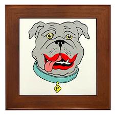 Lipstick Bulldog Framed Tile