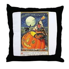 Witchcraft Halloween Throw Pillow