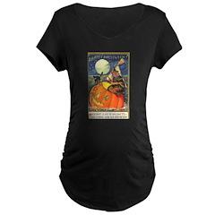 Witchcraft Halloween Maternity Dark T-Shirt