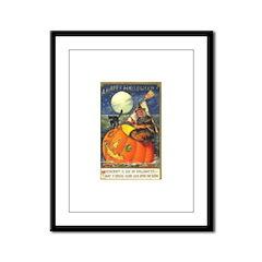 Witchcraft Halloween Framed Panel Print