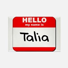 Hello my name is Talia Rectangle Magnet