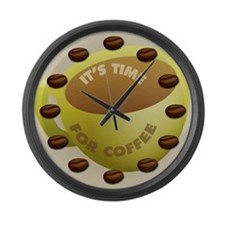 Time for Coffee Large Wall Clock