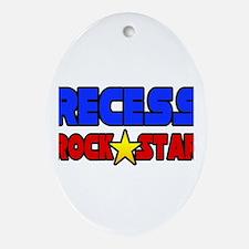 """Recess Rock Star"" Oval Ornament"