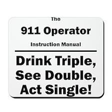 911 Operator Instruction Manual Mousepad