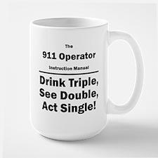 911 Operator Instruction Manual Large Mug