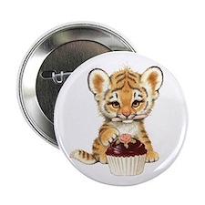 """Cute Tiger 2.25"""" Button"""