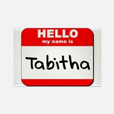 Hello my name is Tabitha Rectangle Magnet