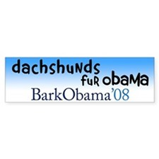 Dachshunds fur Obama bumper sticker