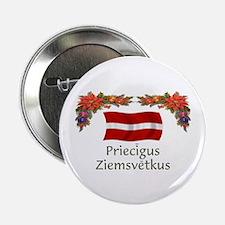 "Latvia Priecigus...2 2.25"" Button"