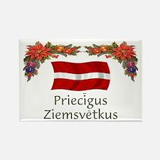 Latvia Priecigus...2 Rectangle Magnet